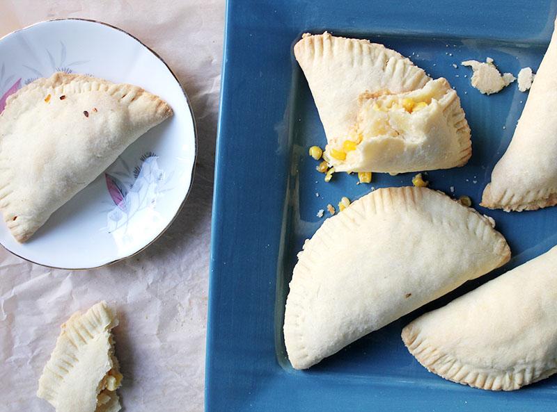 Corn and Feta Empanadas