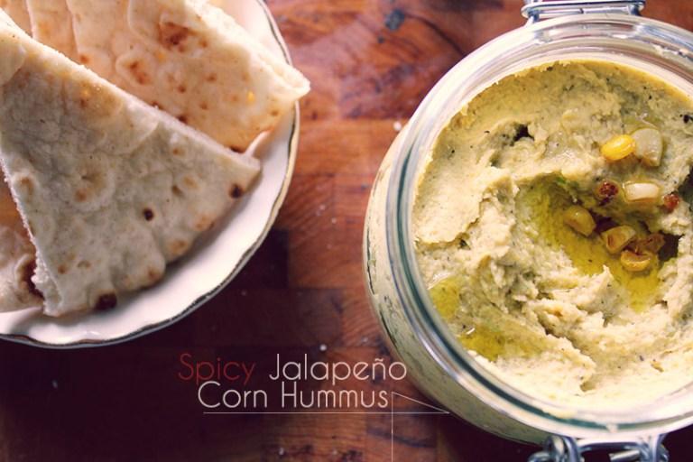 Spicy Jalapeno Corn Hummus