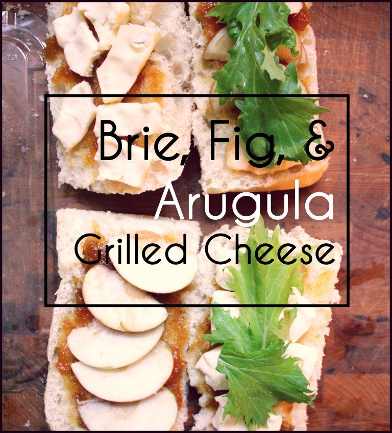 Brie, Arugula, Apple and Fig Jam Grilled Cheese