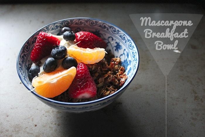 Wake up with Mascarpone: Breakfast Bowl & Breakfast Sandwich