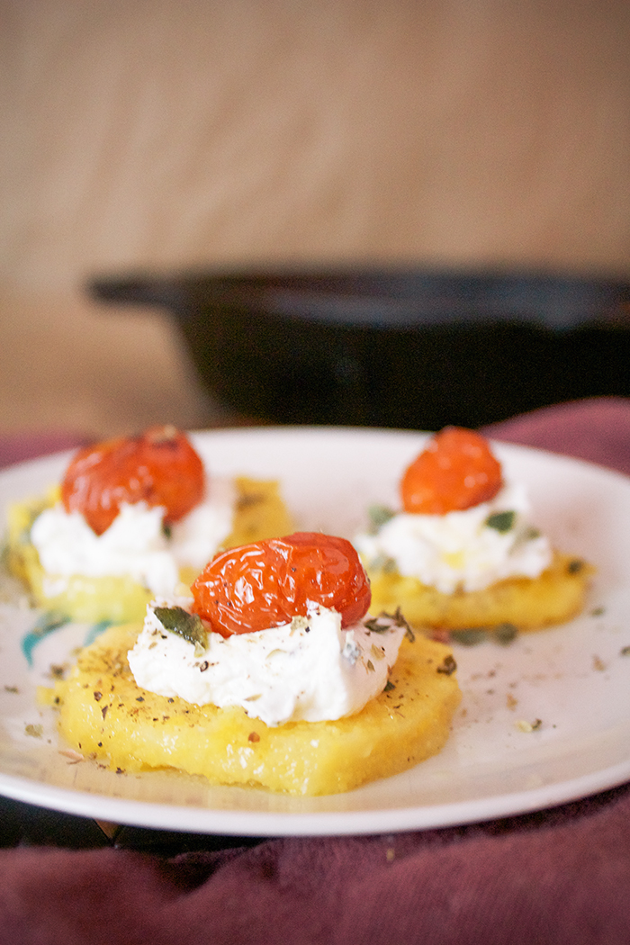 Heart Shaped Crostini with Goat Cheese and Tomatoes