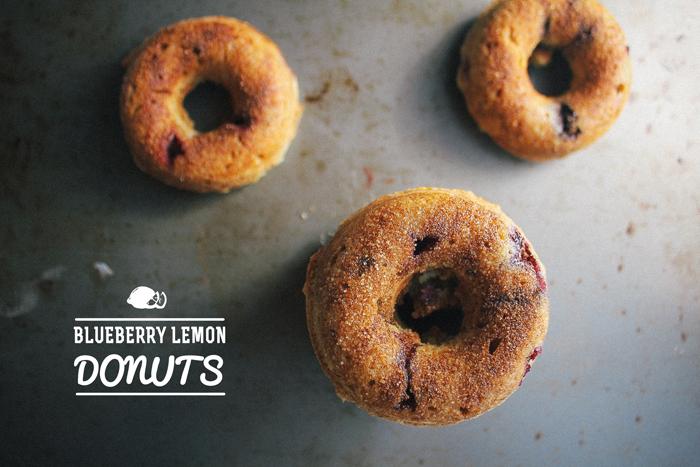 Baked Blueberry & Lemon Donuts
