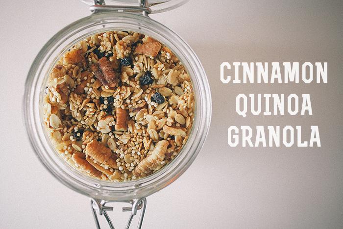 Cinnamon Quinoa Granola
