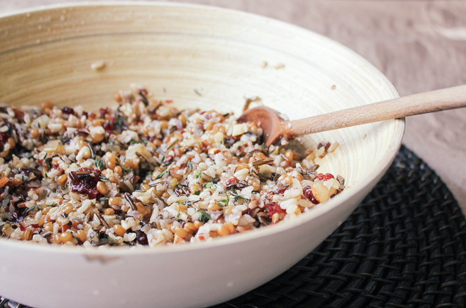 Wild Rice and wheat berries