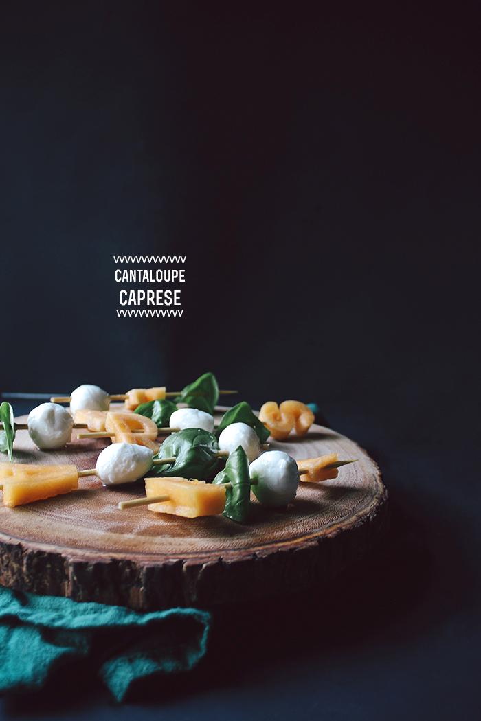 Cantaloupe Caprese