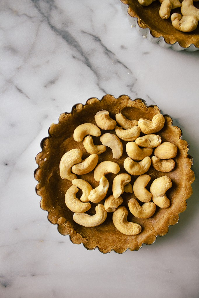 Salted Date Caramel Cashew Tart with Mocha Graham Crust