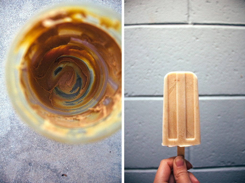 photo college showing pupsicle mixture and frozen dog popsicle