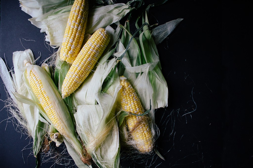 Vegan Corn Cream Soup With Cornbread Croutons