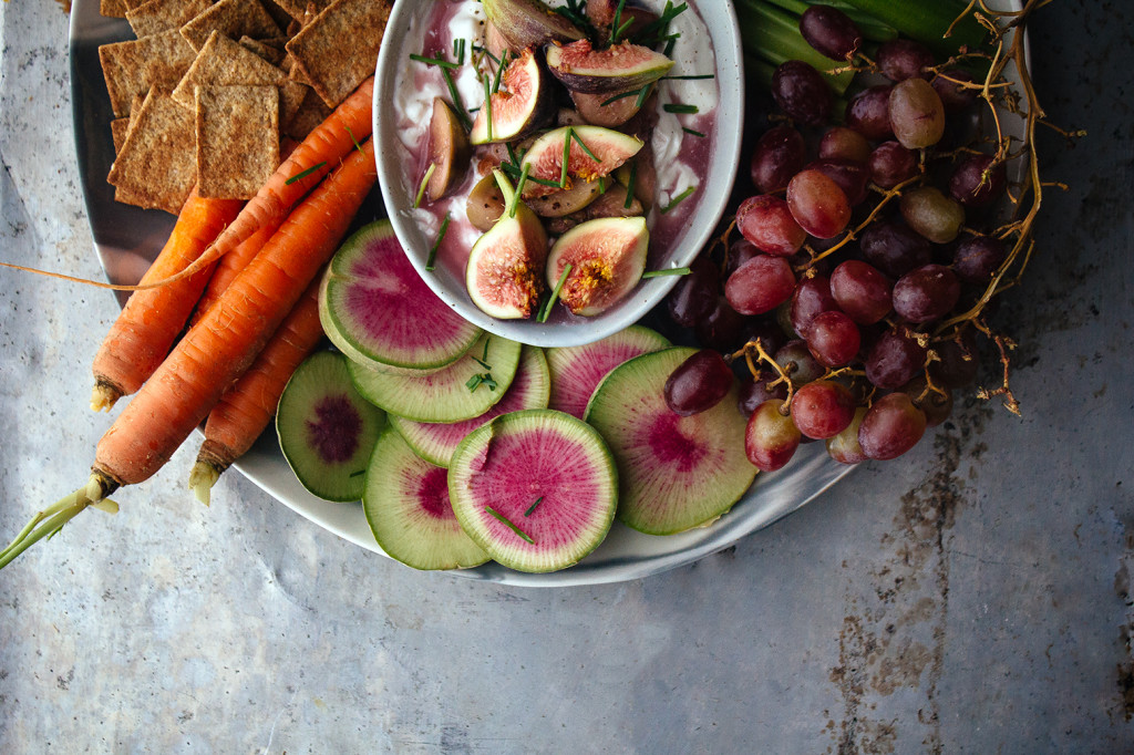 Goat Cheese Dip With Red Wine Figs