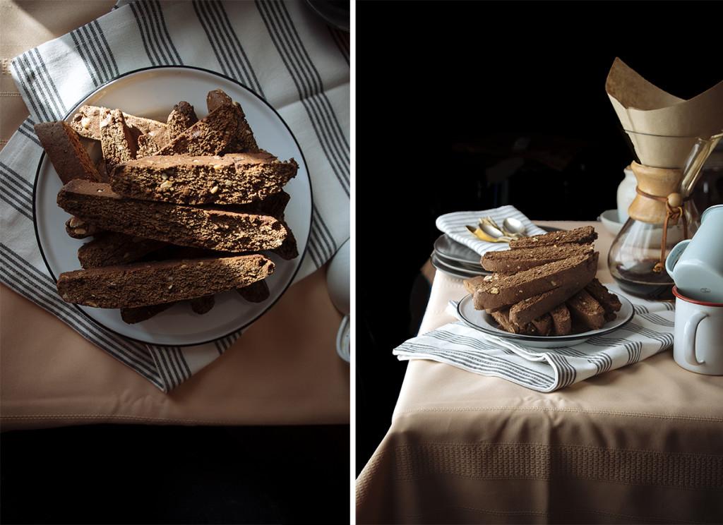 Chocolate Espresso Almond Biscotti