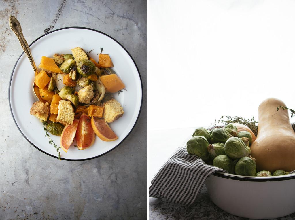 Winter Panzanella Salad With Cornbread Croutons