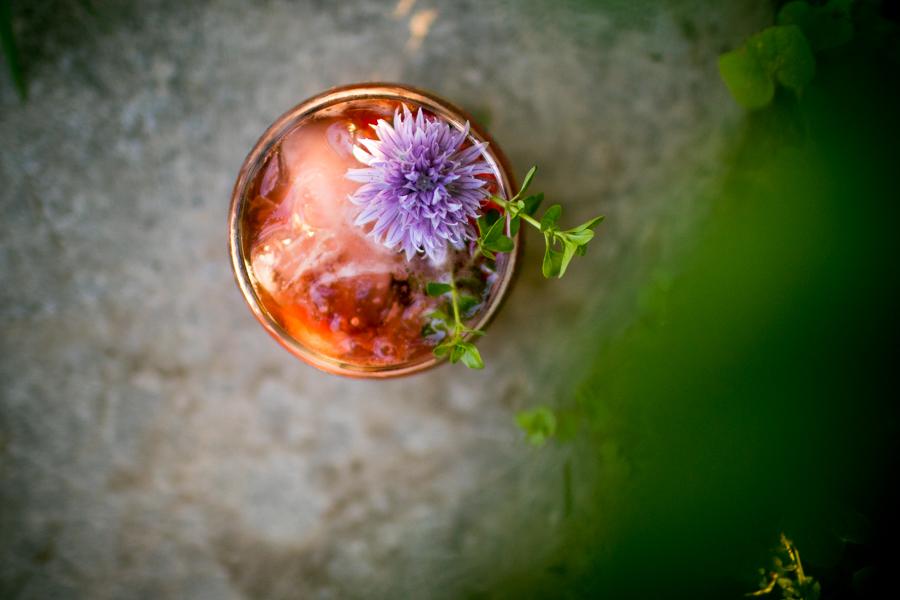 Garden Tonic Cocktail + Cardinal Spirits