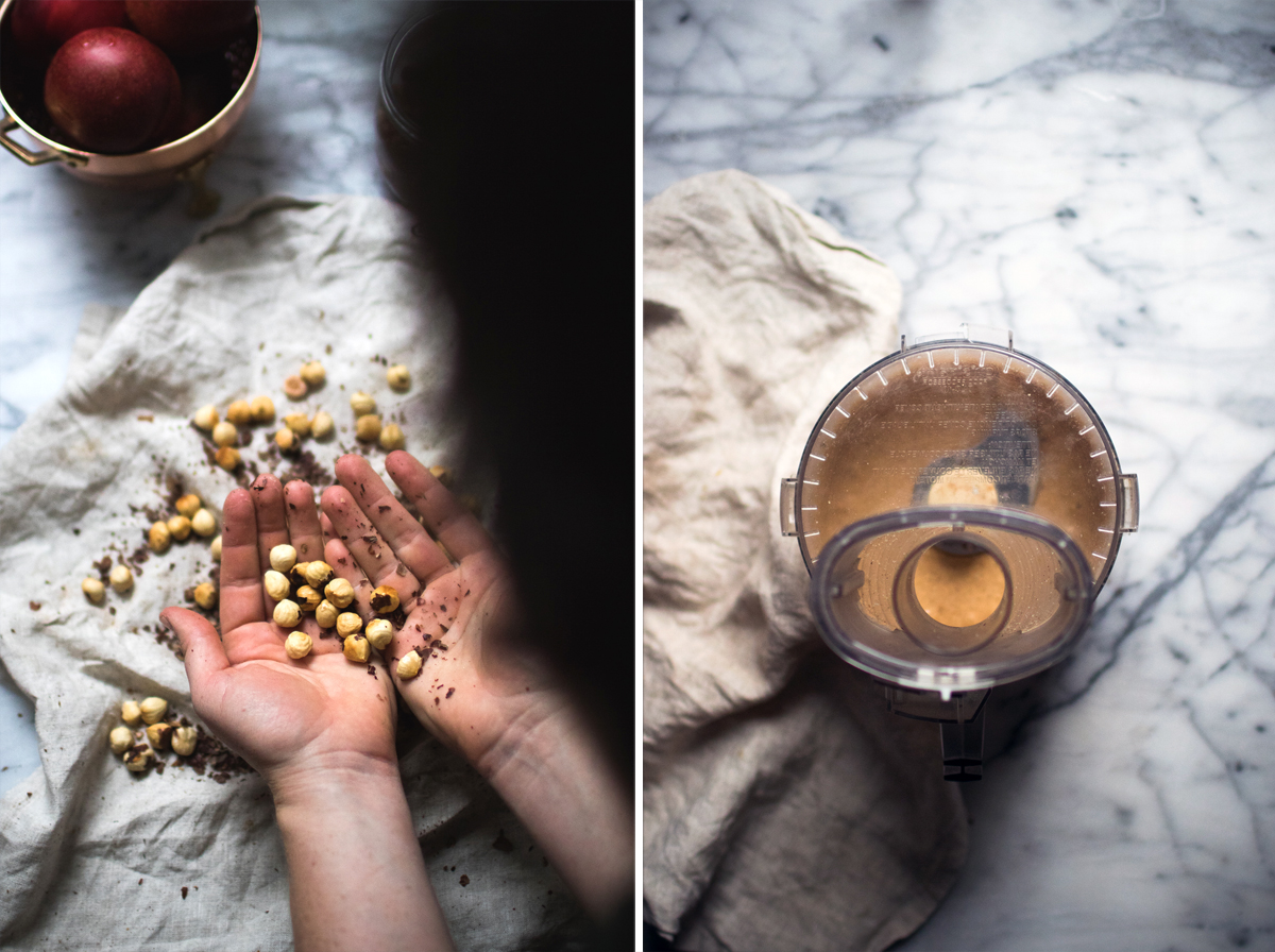 making Hazelnut Frangipane for galette recipe