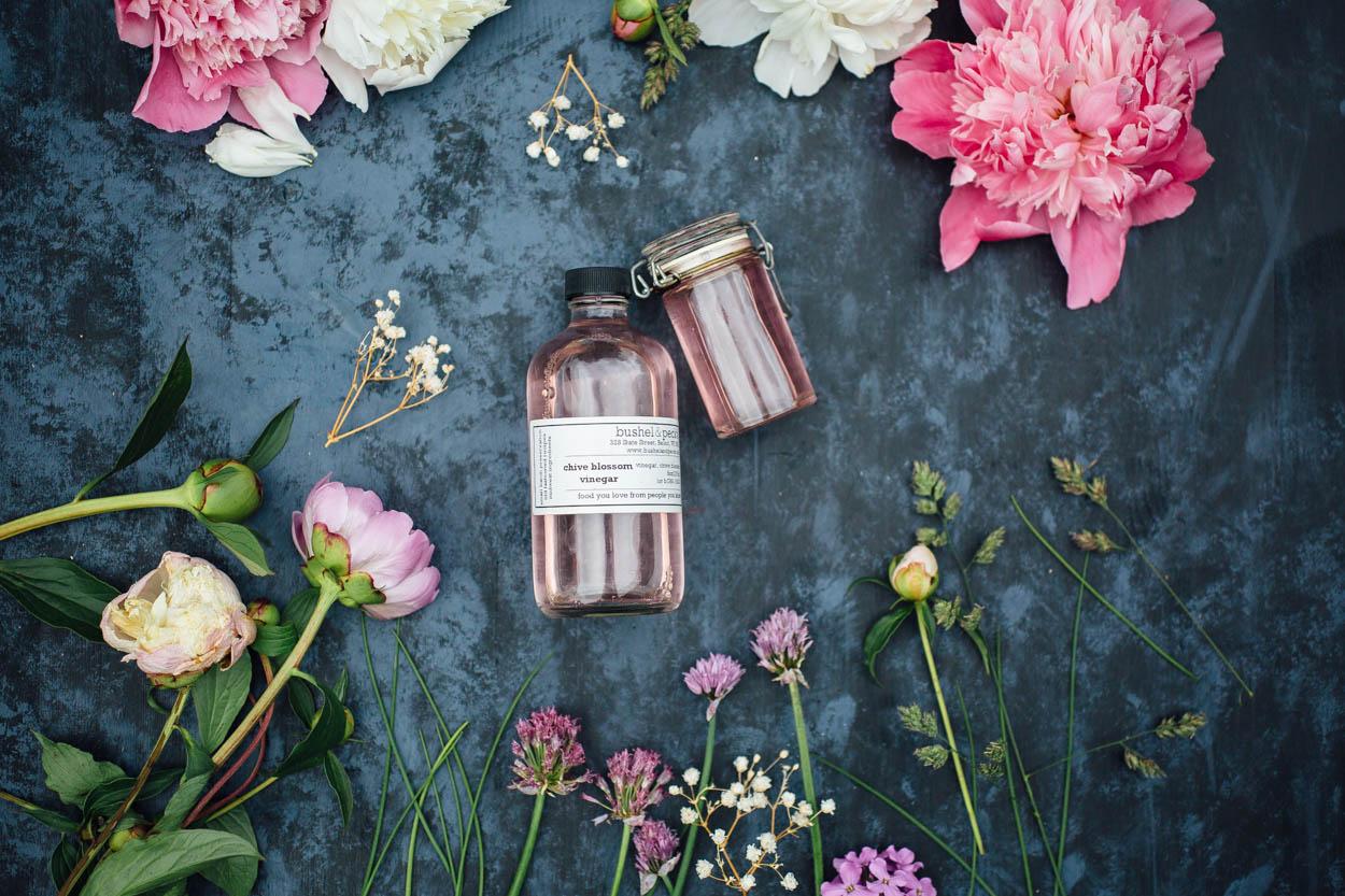Homemade Chive Blossom Vinegar