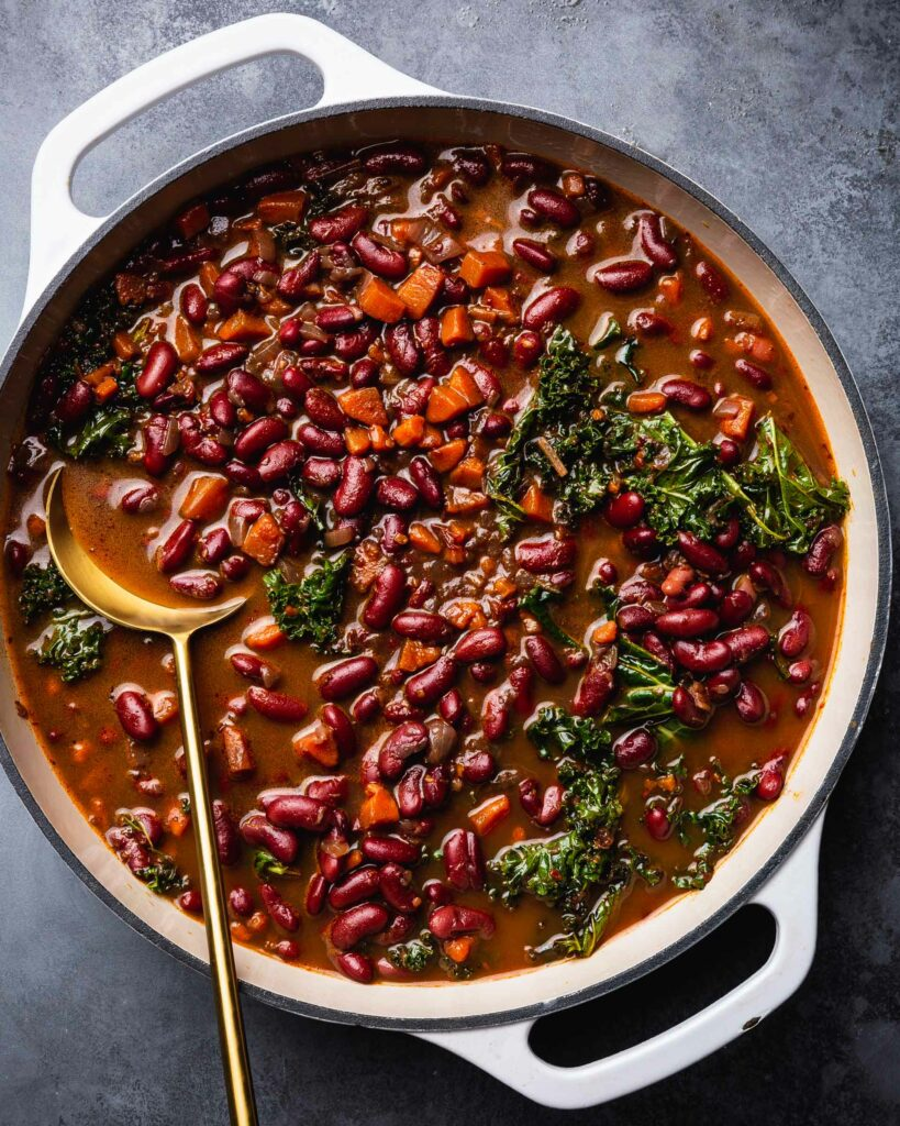 red beans and rice in dutch oven