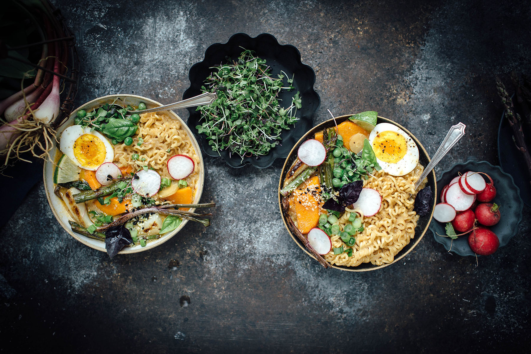 Vegetarian Spring Curry Ramen