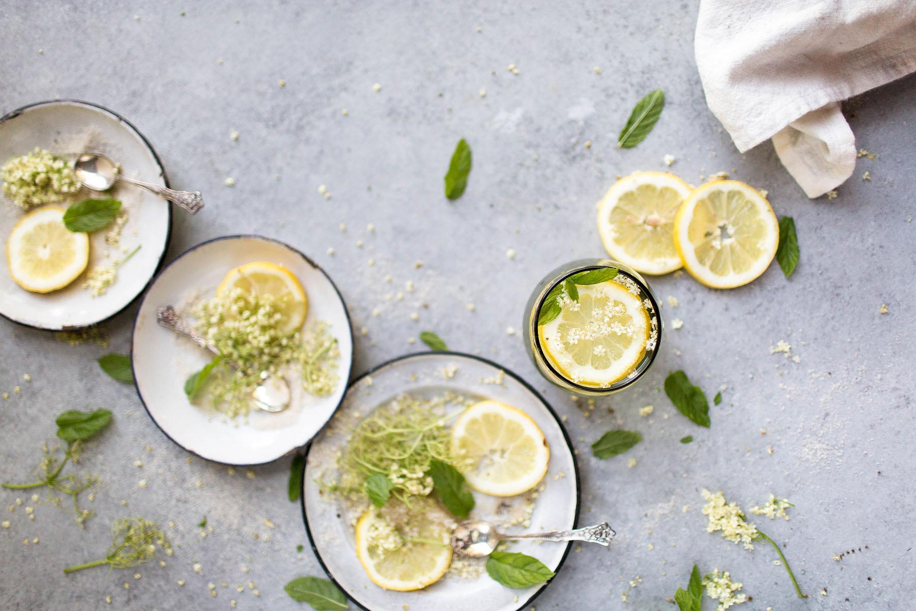 Elderflower Lemonade (Vegan Option)