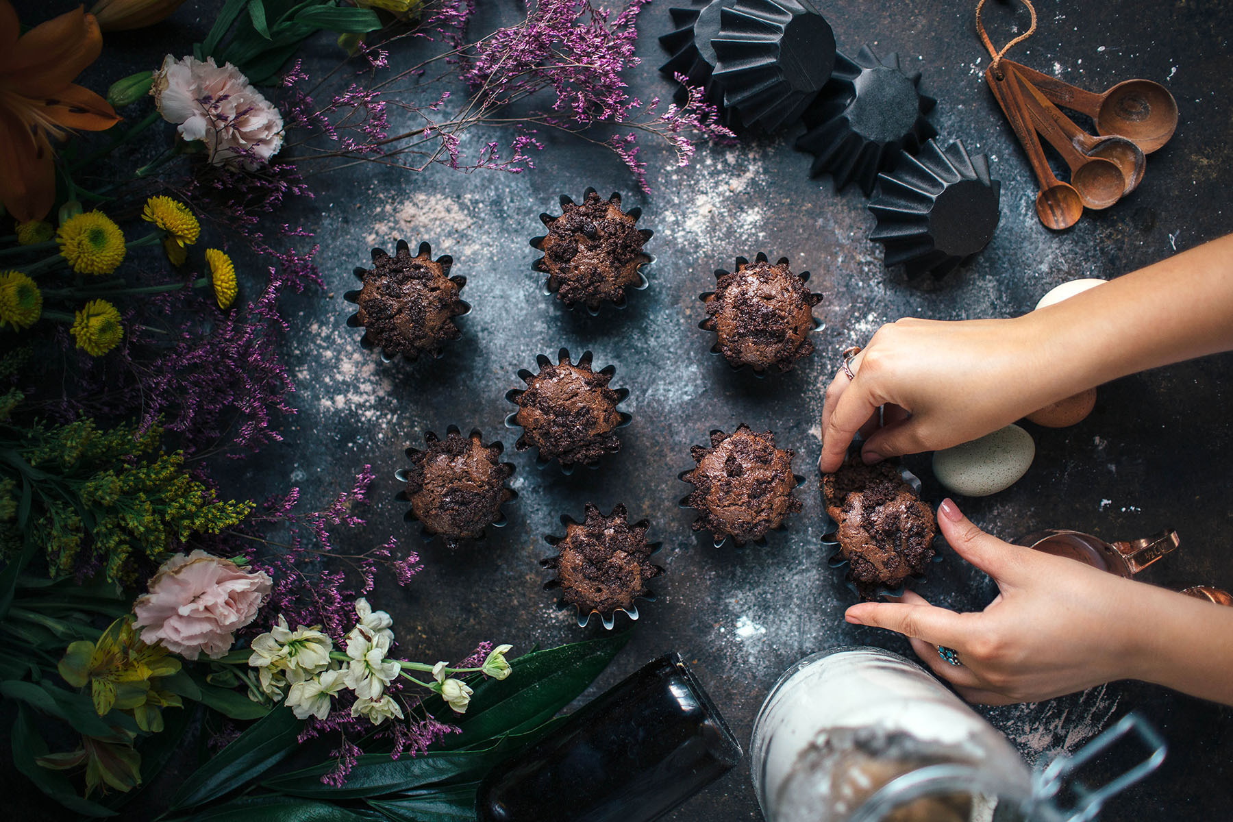 Cocoa Ricotta Muffins With Chocolate Streusel