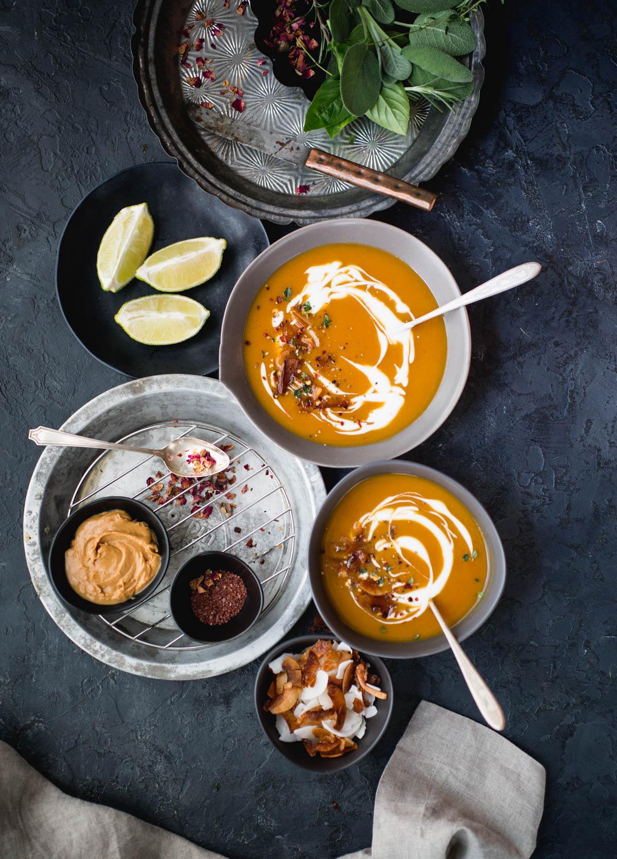 sweet potato lime and peanut soup