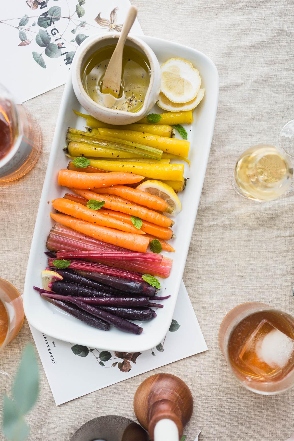 Rainbow Carrots and chard