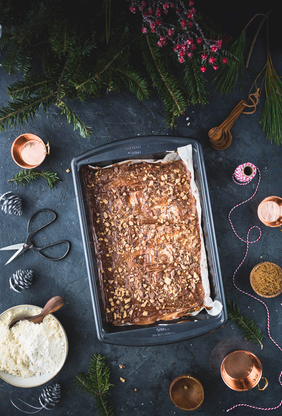 Almond Toffee Shortbread Cookies