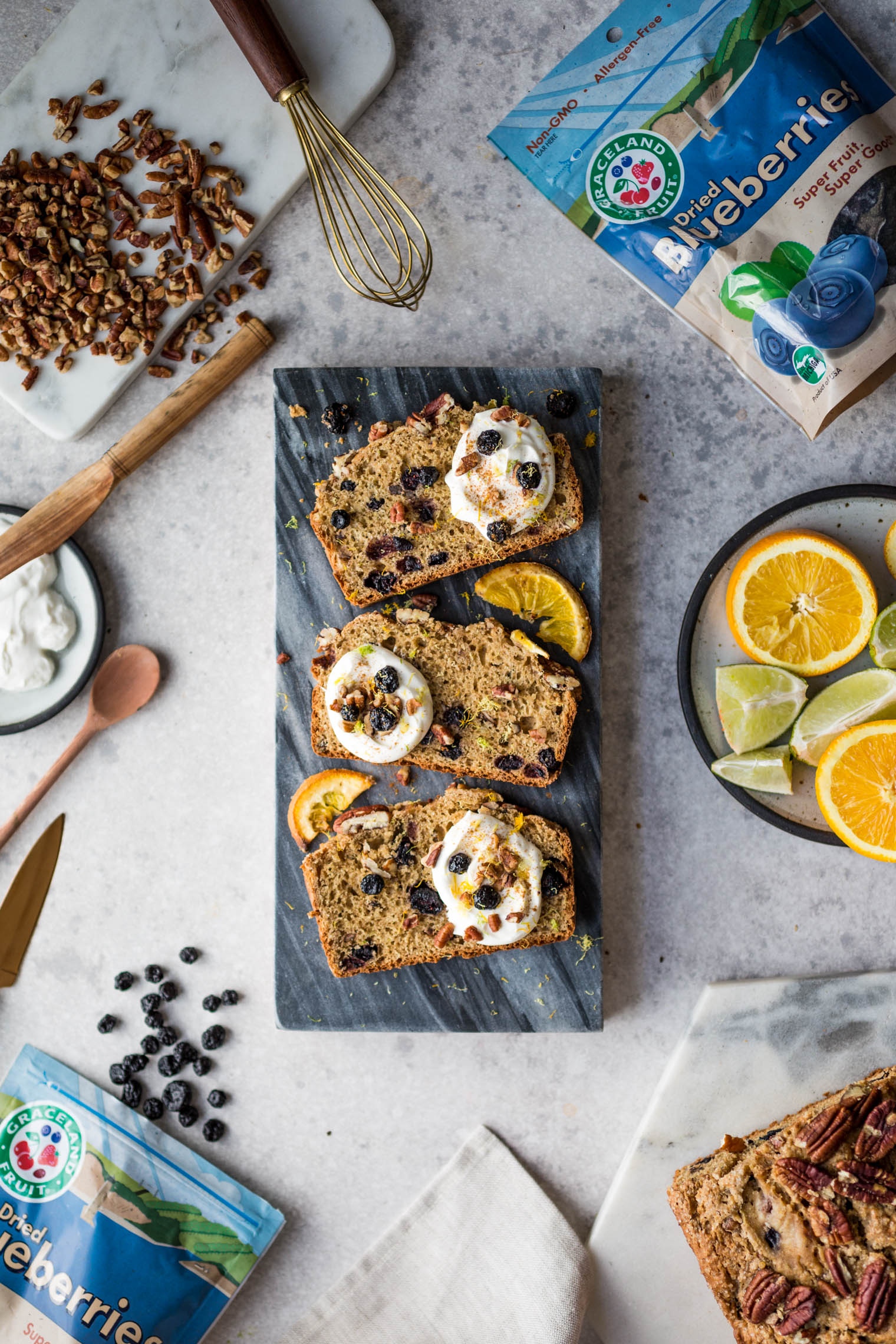 Blueberry Citrus Sour Cream Coffee Cake Loaf