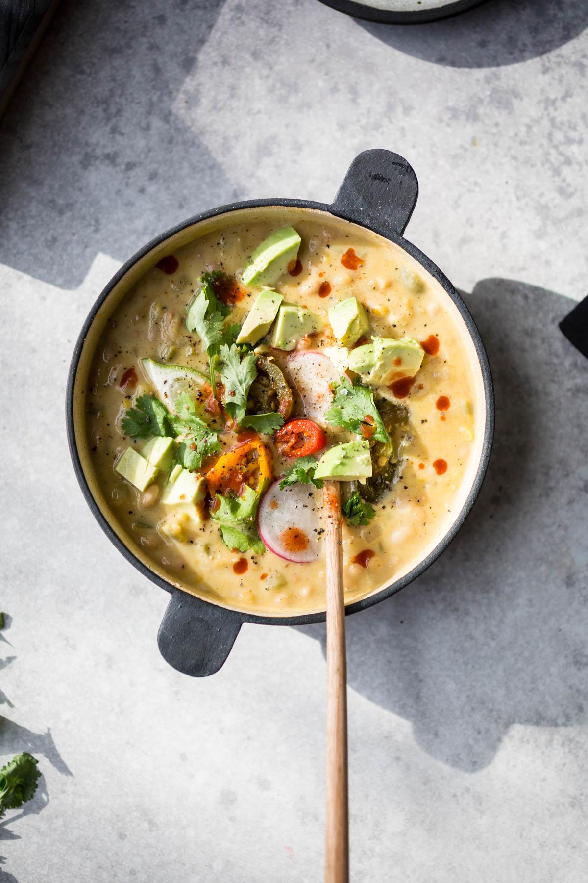 vegetarian white chili