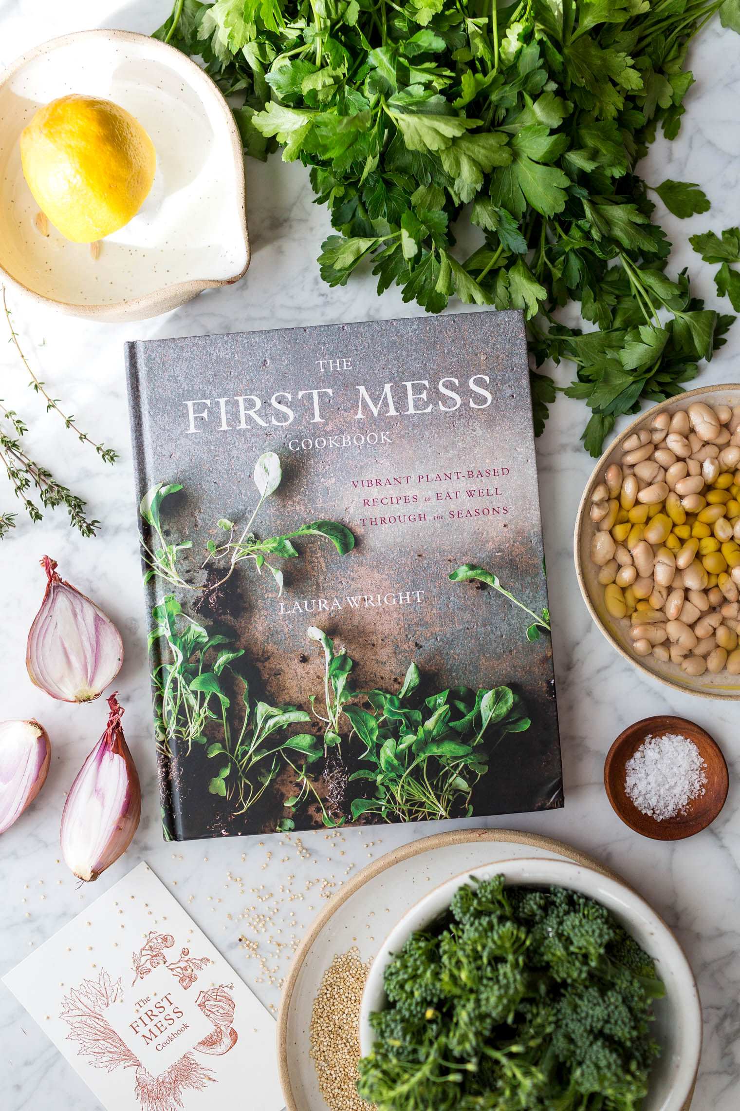 Creamy Quinoa and White Bean Risotto with Crispy Brassica Florets