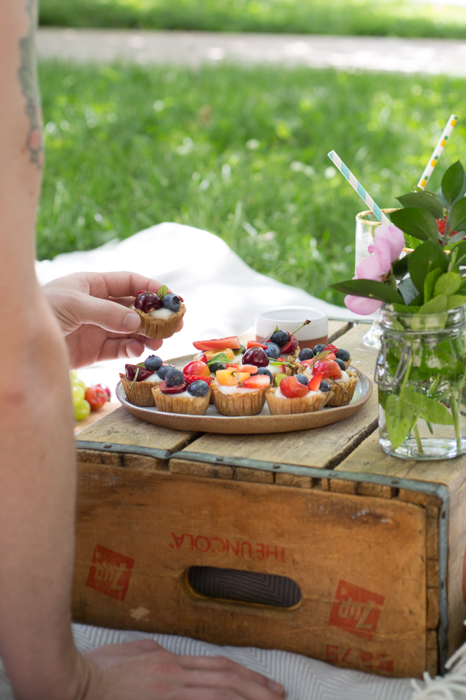 Fruit & Yogurt Granola Tarts + Vegetarian Heartland is out TODAY!