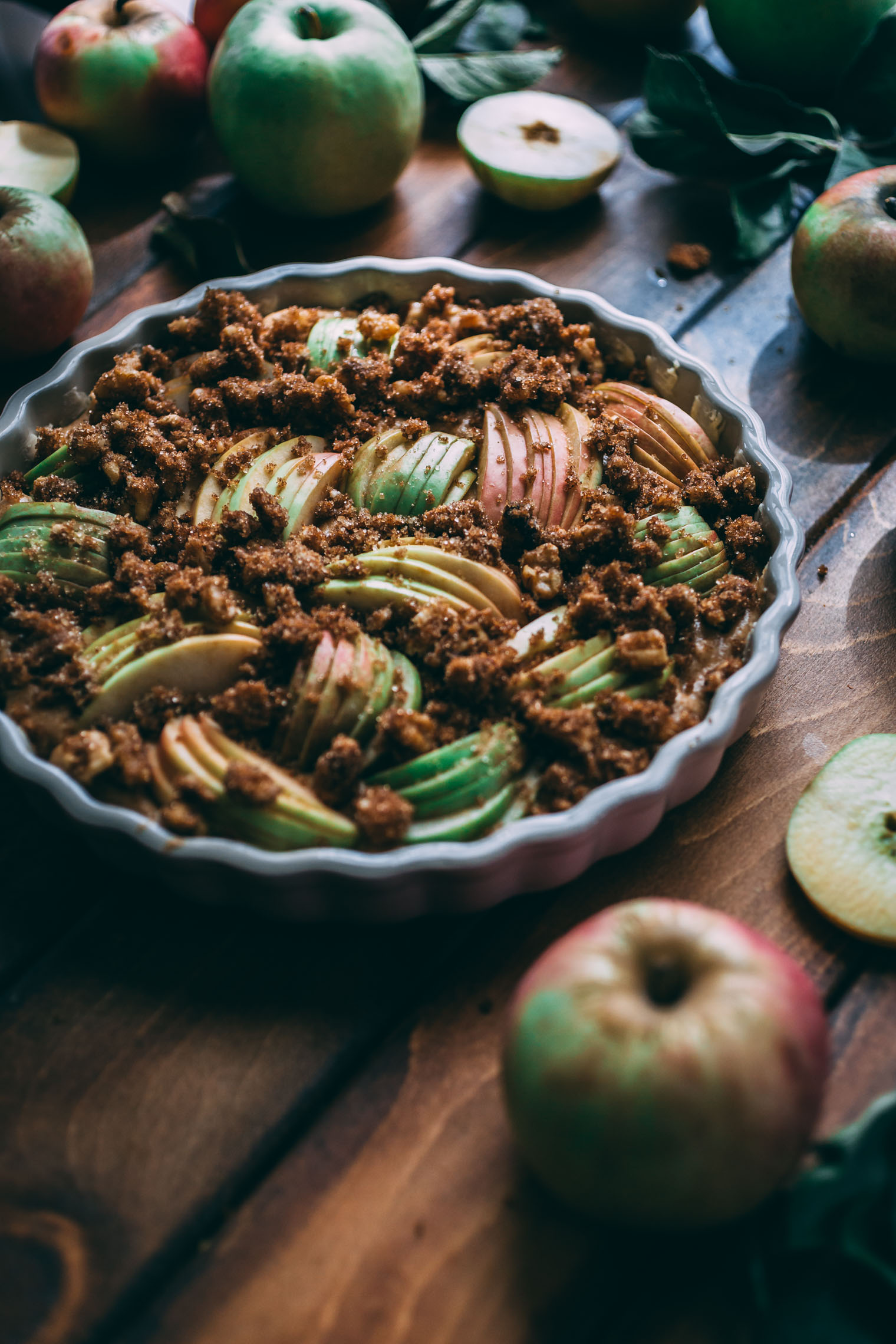 Apple Walnut Yogurt Coffee Cake