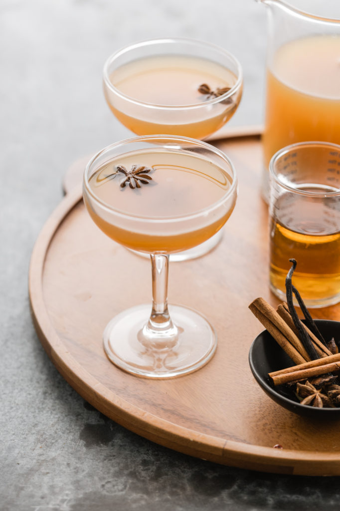 chai spiced apple cider cocktail recipe