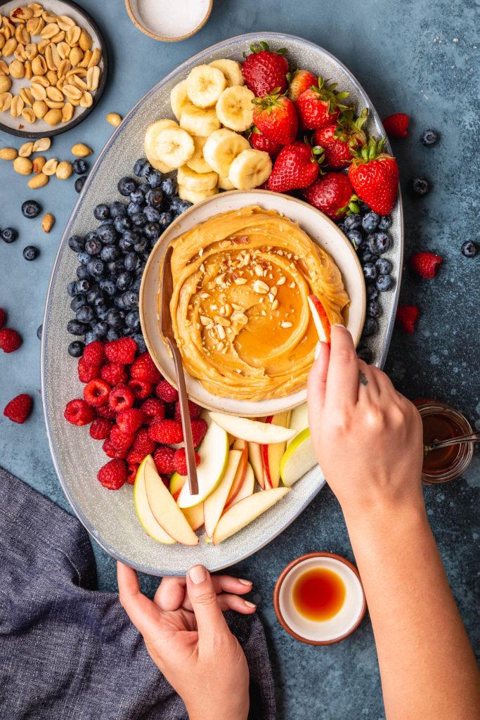 Sweet Peanut Butter Mascarpone Fruit Dip