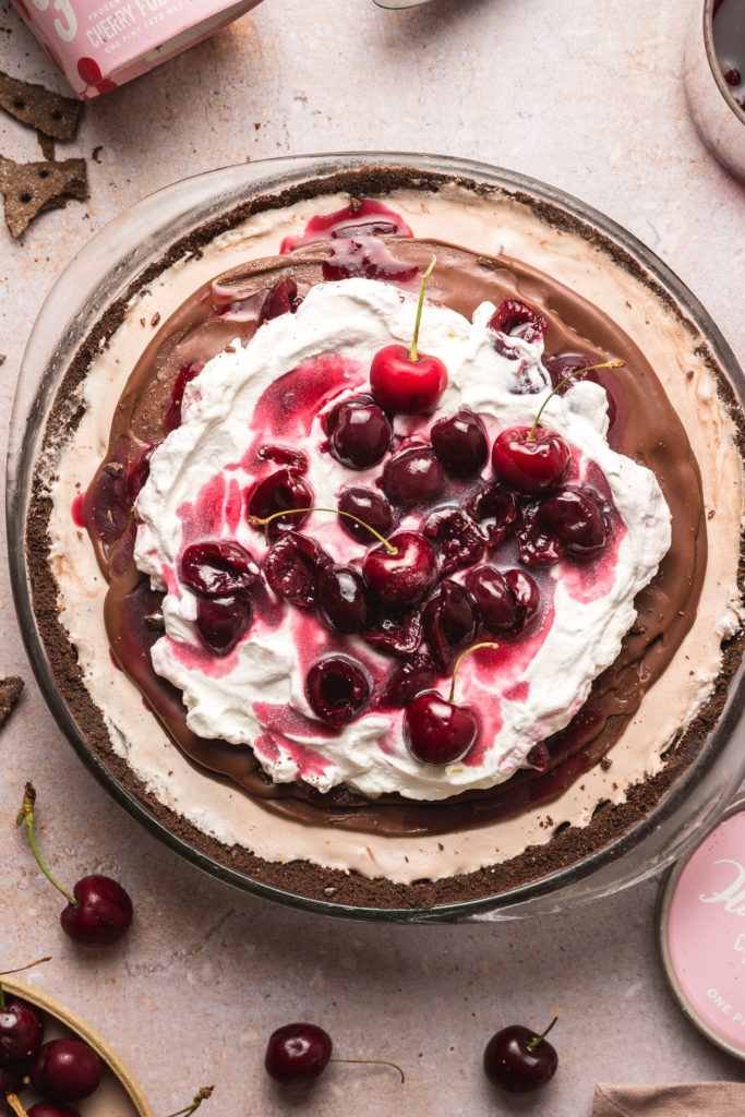 Cherry Fudge Ice Cream Pie