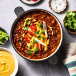 Red Bean Chili with Smoky Chili Cashew Queso
