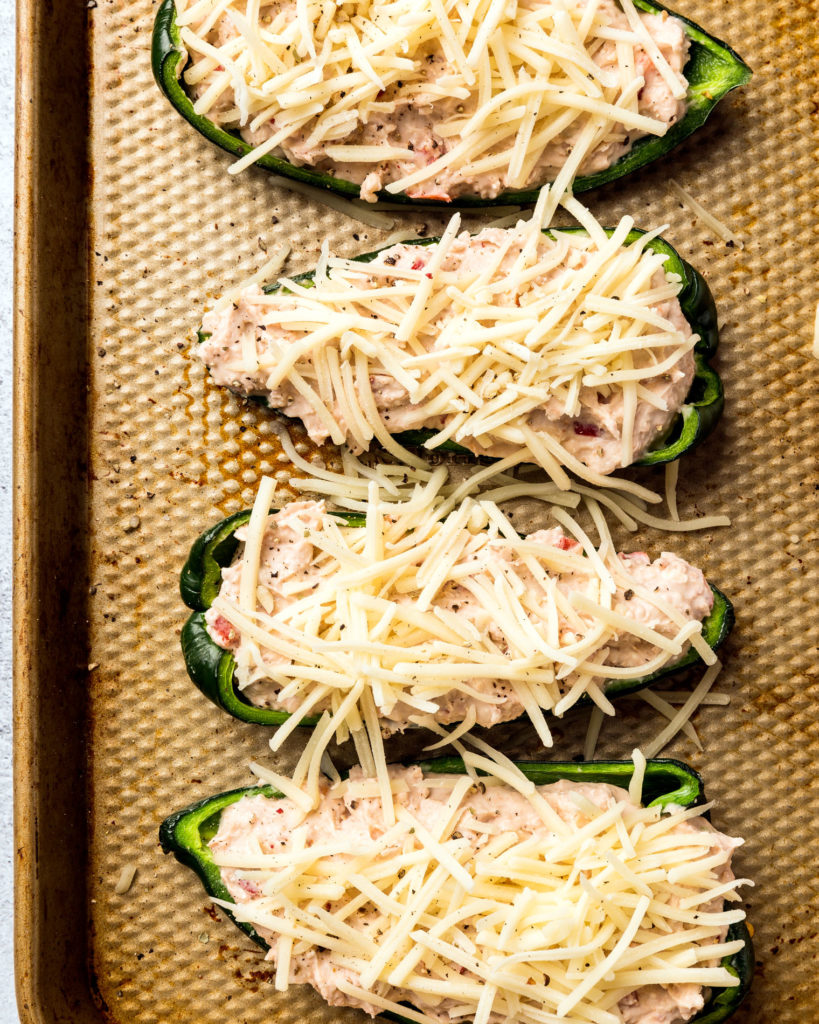Baked Poblano Poppers with White Cheddar & Pinto Beans