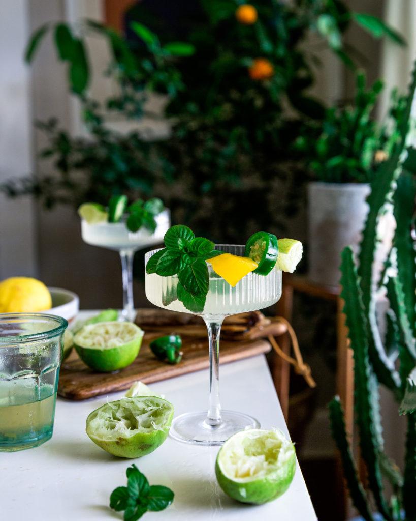 Jalapeño Mango Lime Gimlet