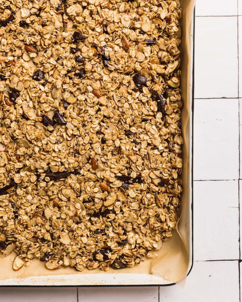 CHOCOLATE SESAME ALMOND GRANOLA pre-baked