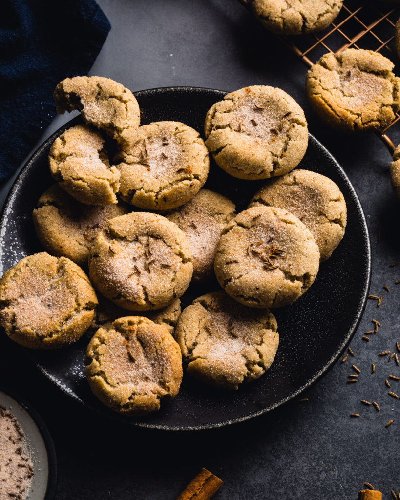 Rye Caraway Snickerdoodle Cookies