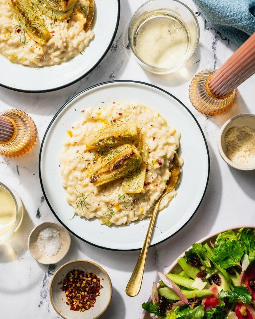 mascarpone risotto overhead
