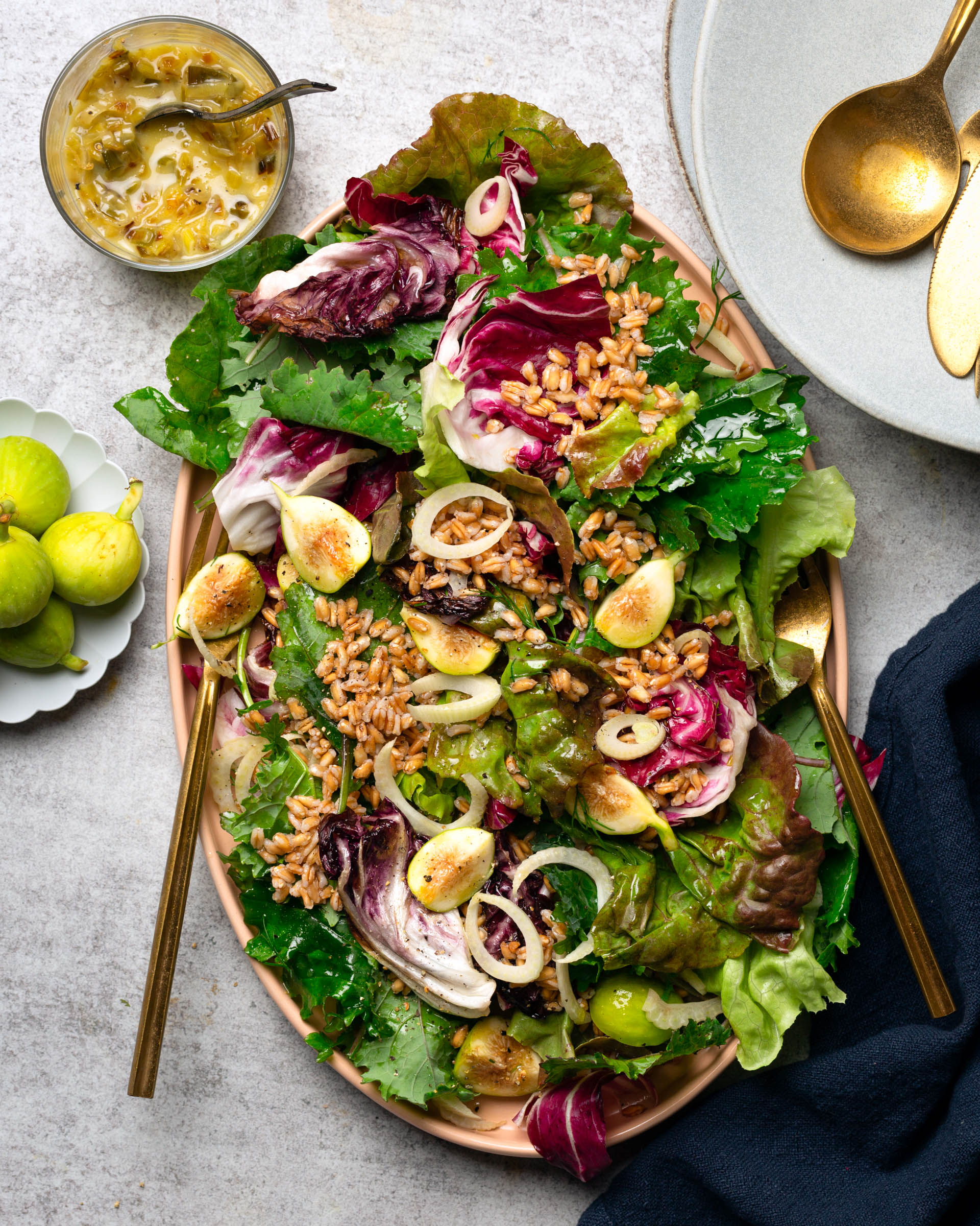 Farro Radicchio Salad